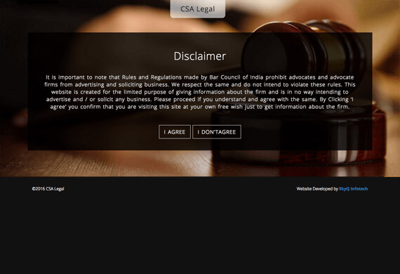 CSA legal - Dynamic Website