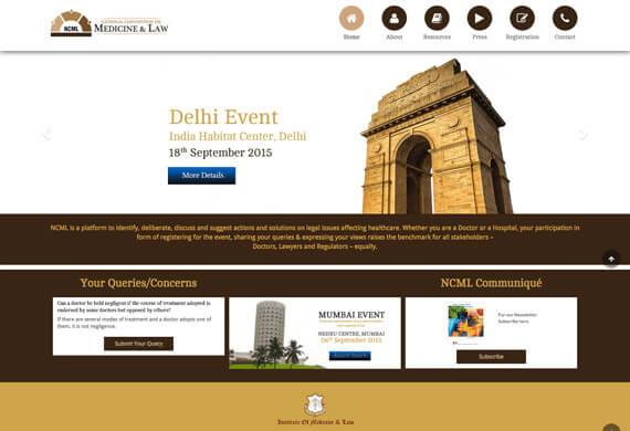 Medicine & Law Convention - Web Portal