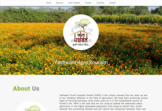 Yashwant Agro Tourism - One Page Website